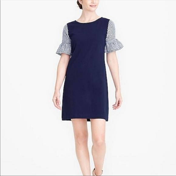 J. Crew Factory Dresses & Skirts - J. Crew Printed Bell Sleeve Dress (A5)
